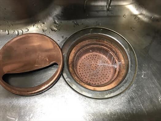 カクダイの銅製排水口セット